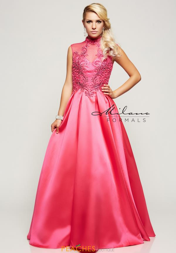 Milano Formals Beaded Long Dress E2118