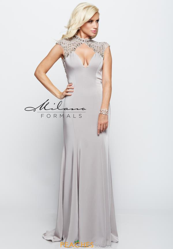 Milano Formals Jersey Fitted Dress E2119