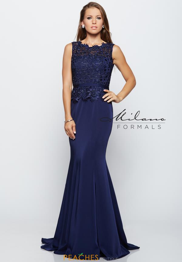 Long Lace Milano Formals Dress E2121