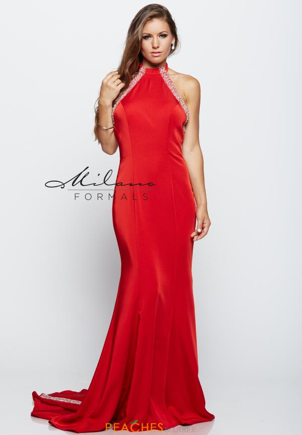 Milano Formals Red Fitted Dress E2133