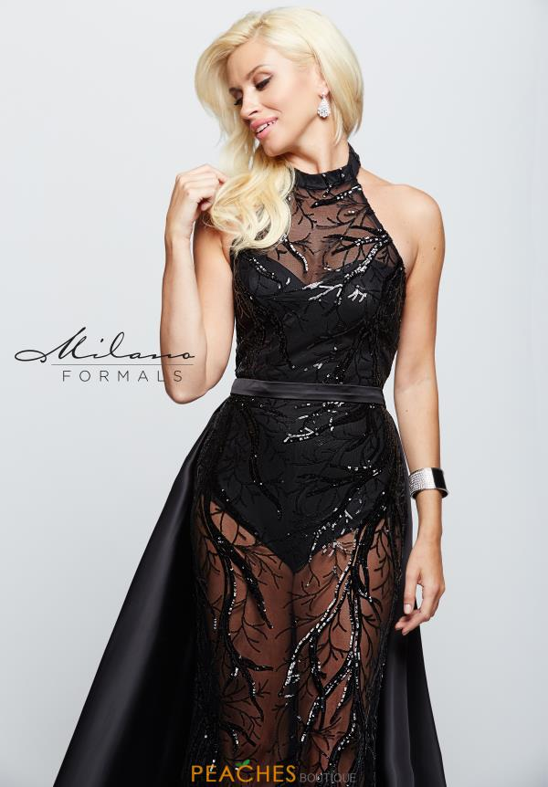 Milano Formals Halter Neckline Sequins Dress E2134