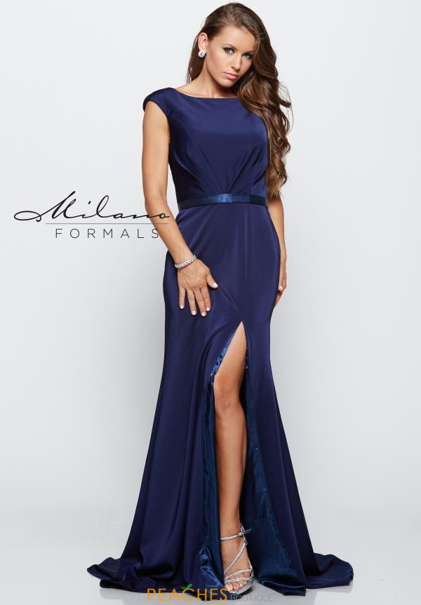 Milano Formals Long Fitted Dress E2136