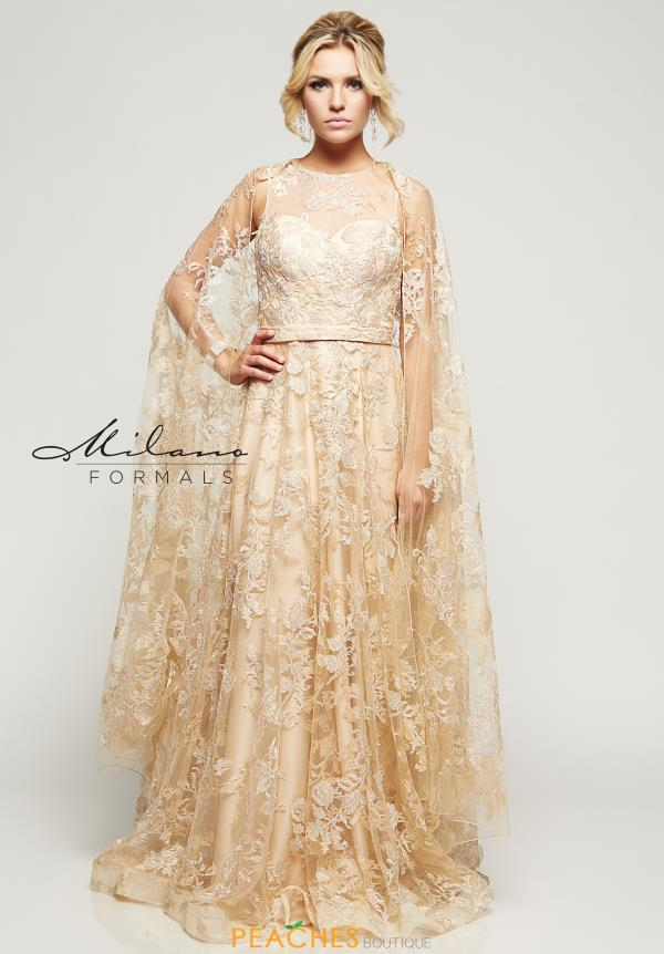 Long Lace Milano Formals Dress E2158