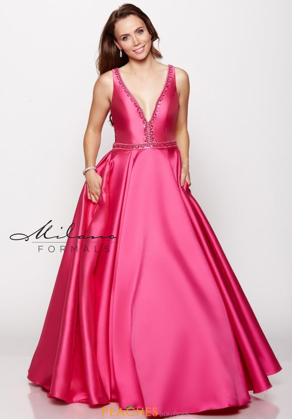 Long A Line Milano Formals Dress E2165