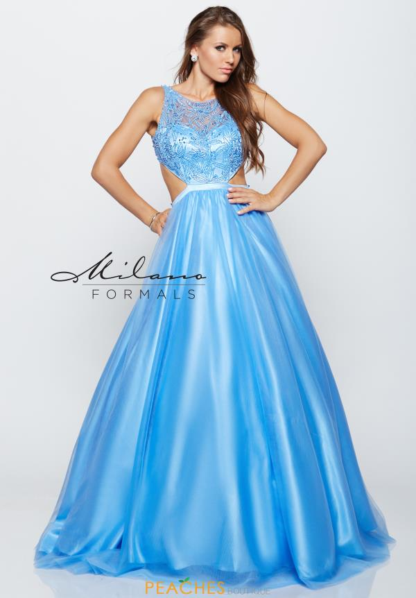 Long Beaded Milano Formals Dress E2171