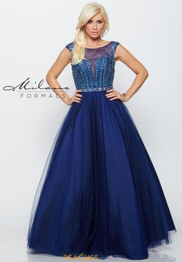 Beaded Long Milano Formals Dress E2182