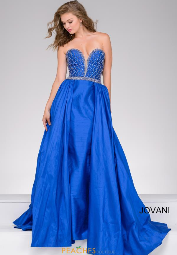 A Line Taffeta Jovani Dress 47321