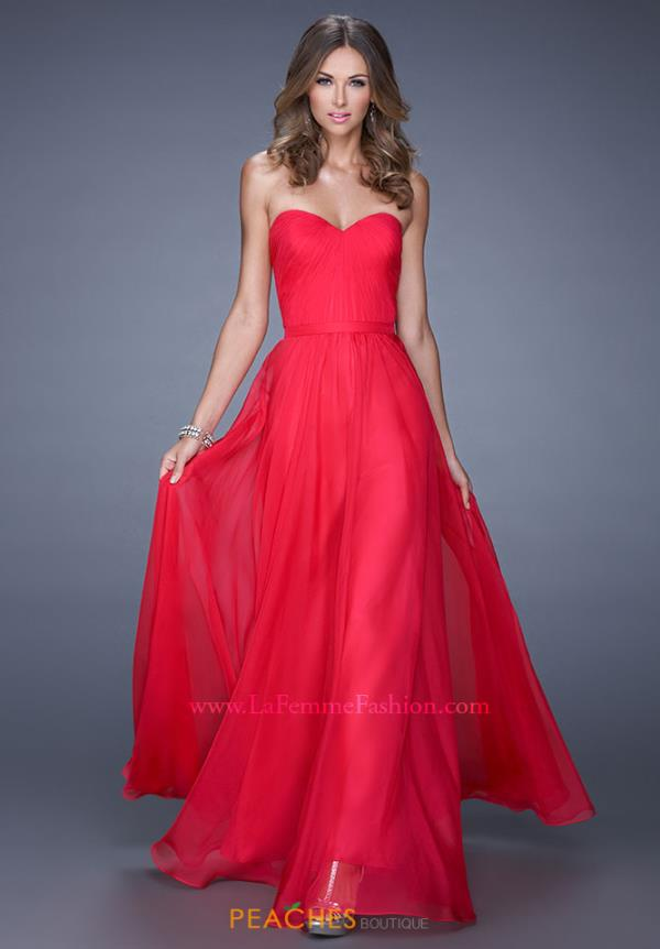 Fitted Bodice La Femme Prom Dress 20808