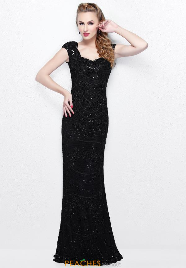 Primavera Sweetheart Neckline Beaded Dress 1681