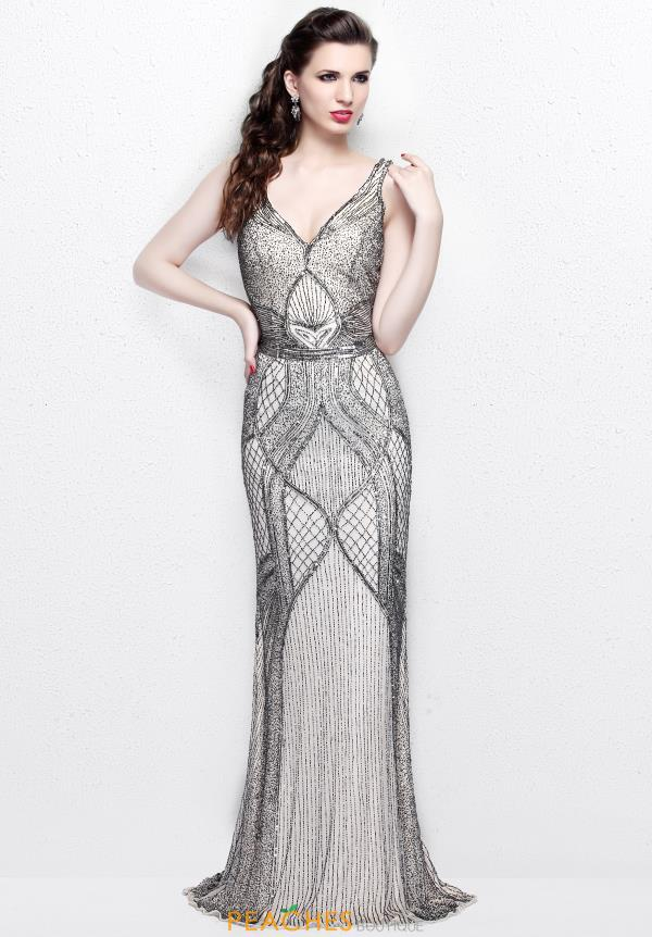 Primavera V Neckline Beaded Dress 1723