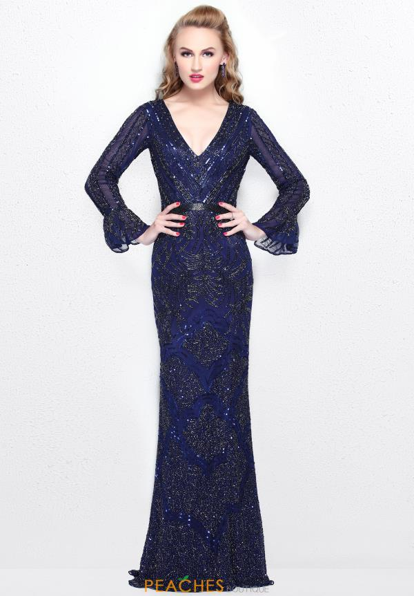 Primavera V Neckline Beaded Dress 1724
