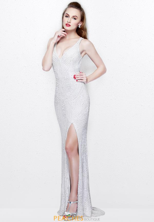 Primavera V Neckline Beaded Dress 1813