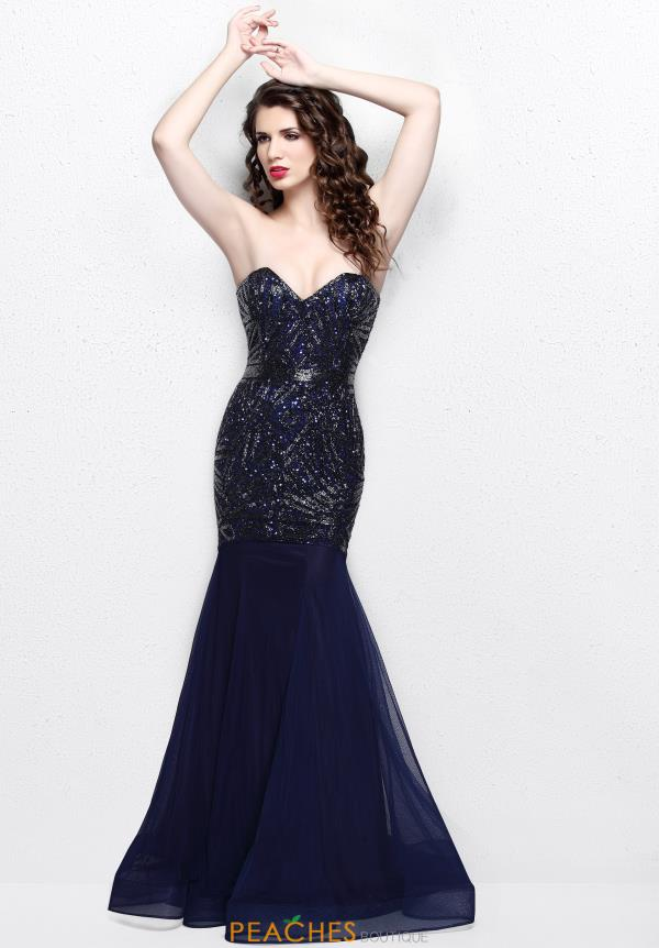 Primavera Sweetheart Neckline Beaded Dress 1825