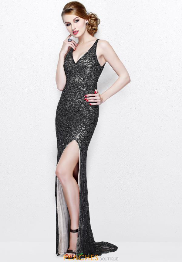 Primavera V Neckline Beaded Dress 1832