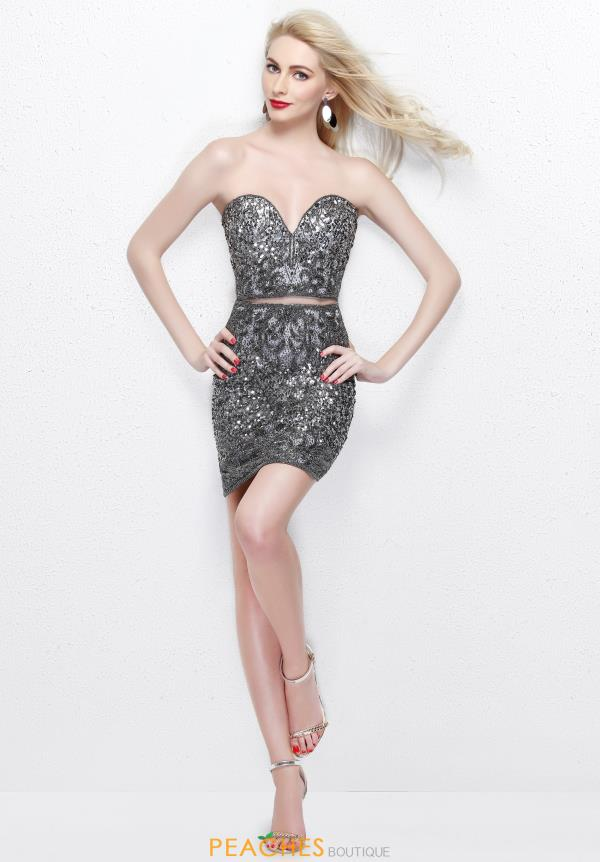 Primavera Sweetheart Neckline Beaded Dress 1654