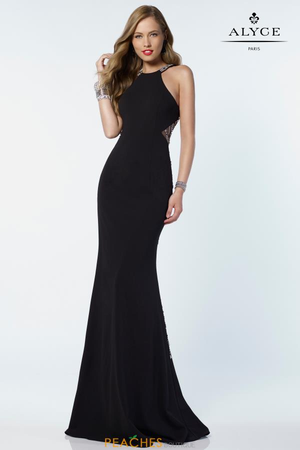 Alyce Paris Fitted Beaded Dress 6698