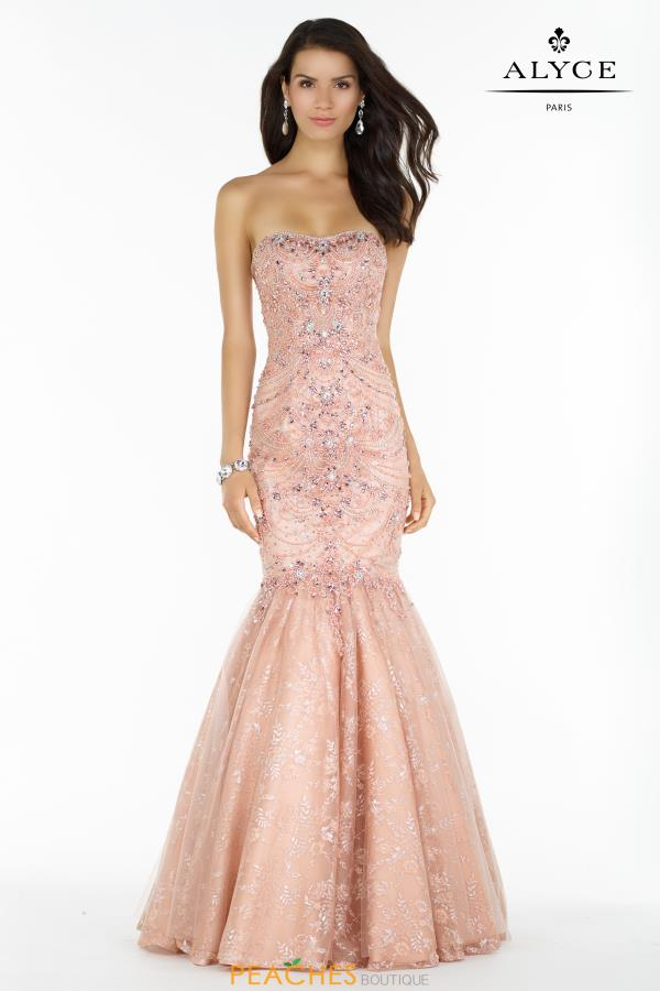 Alyce Paris Strapless Mermaid Dress 6755
