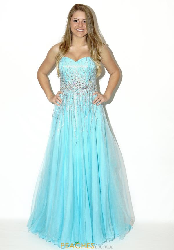 Madison James A Line Prom Dress 16-369