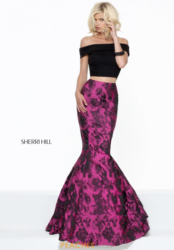 Two Piece Winter Formal Print Sherri Hill Dress 50876