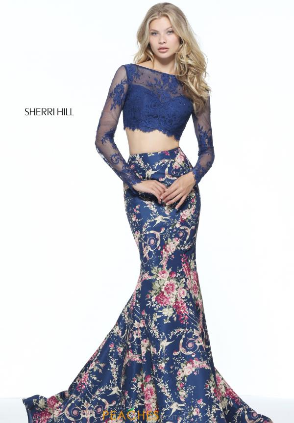 Sherri Hill Fitted Print Dress 51064