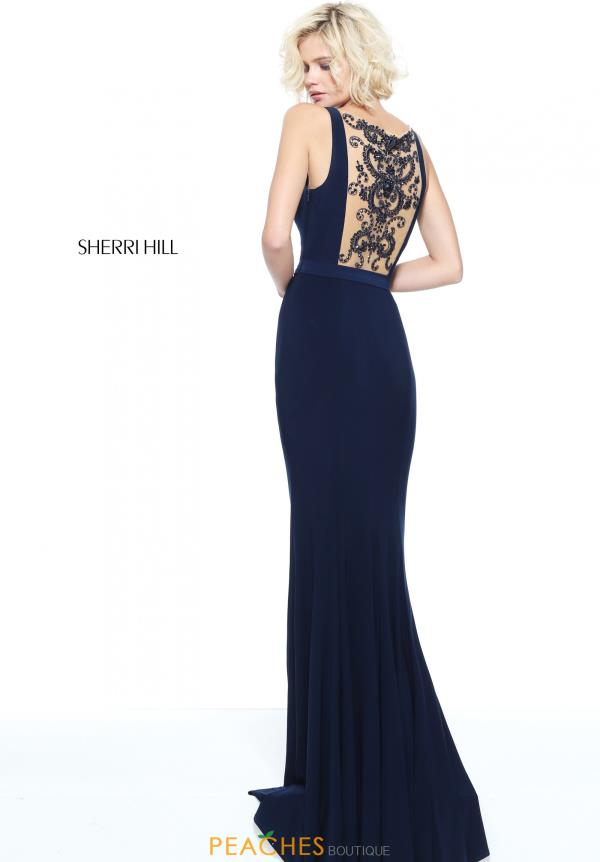 Sherri Hill Fitted Winter Formal Jersey Dress 51096
