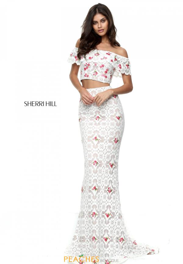 Sherri Hill Two Piece Fitted Dress 50785