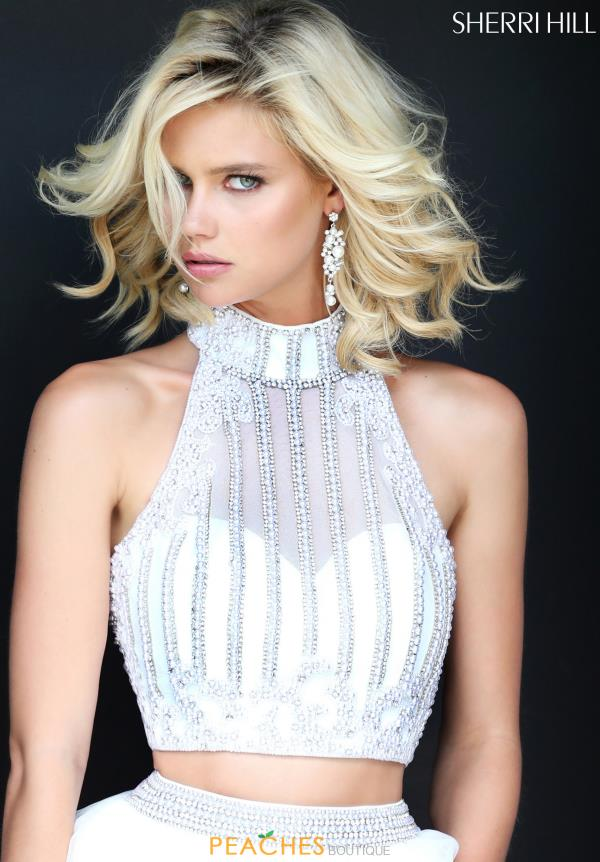 Sherri Hill Beaded A Line Dress 50786