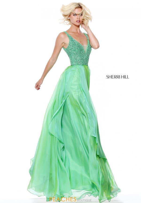 Sherri Hill Beaded A Line Dress 50801