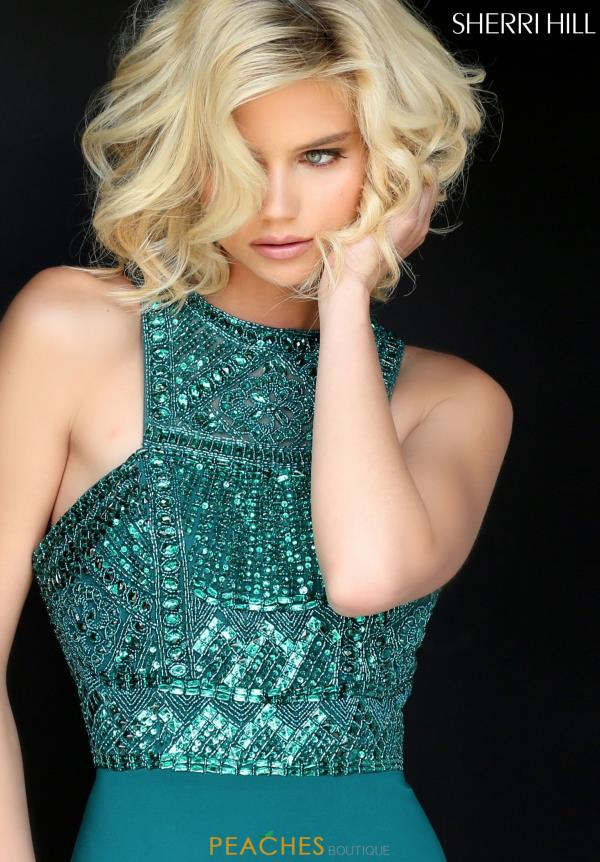 Sherri Hill Long Beaded Dress 50806