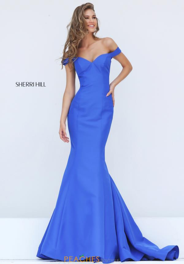 Cap Sleeved Fitted Sherri Hill Dress 50823