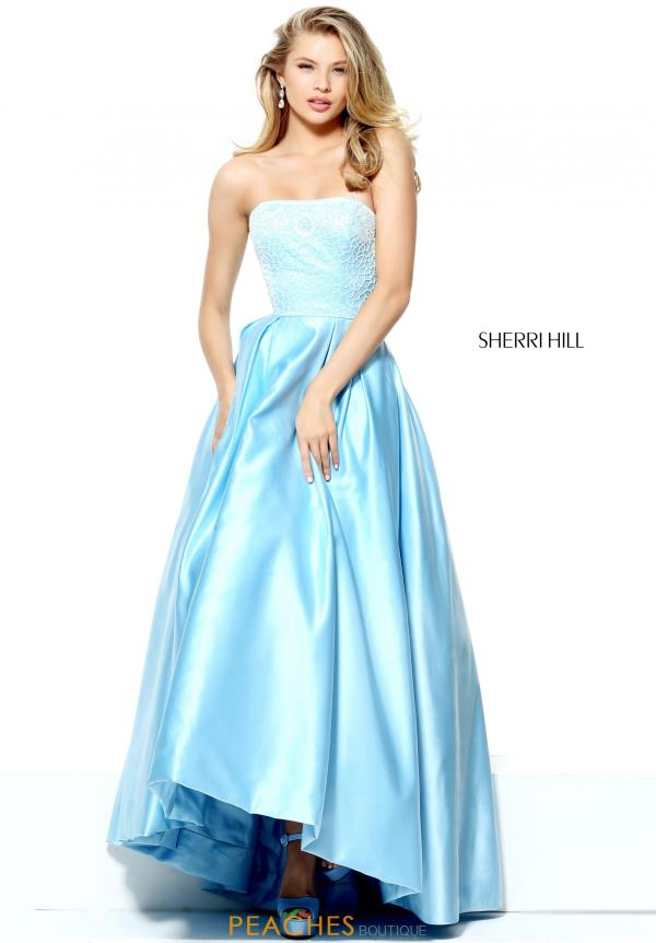 Strapless A Line Sherri Hill Dress 50833