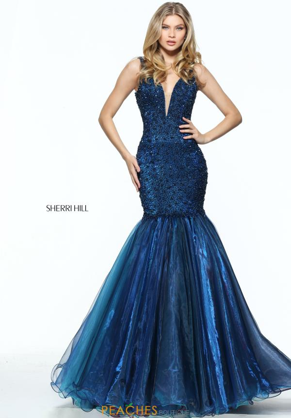 Sherri Hill Beaded Pageant Mermaid Dress 50848