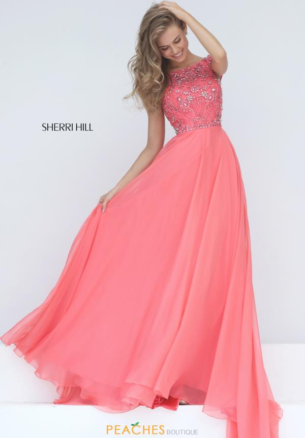 Sherri Hill Beaded Long Dress 50849