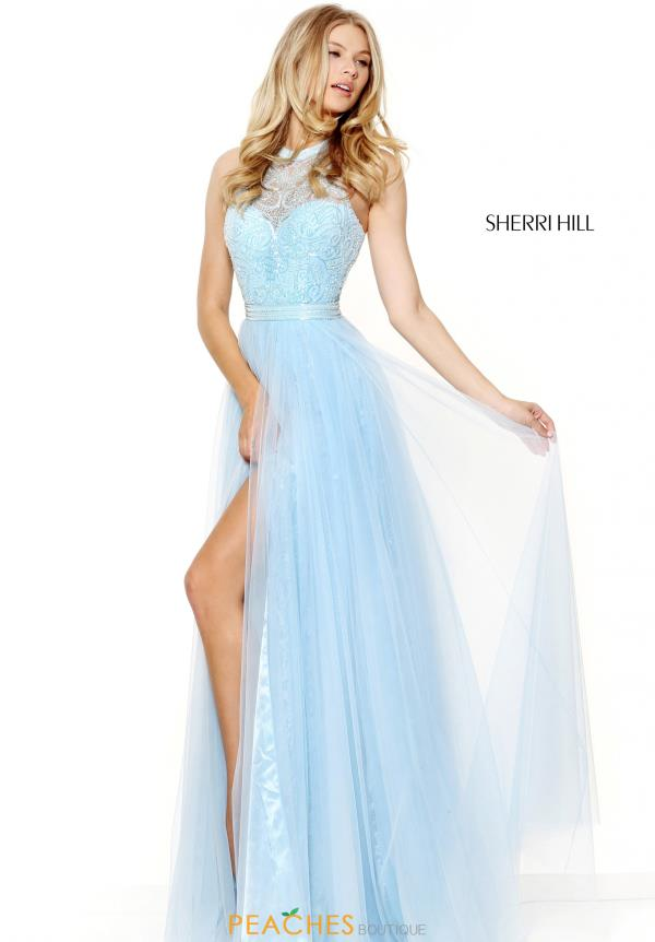 Sherri Hill Beaded Pageant Halter Top Dress 50859