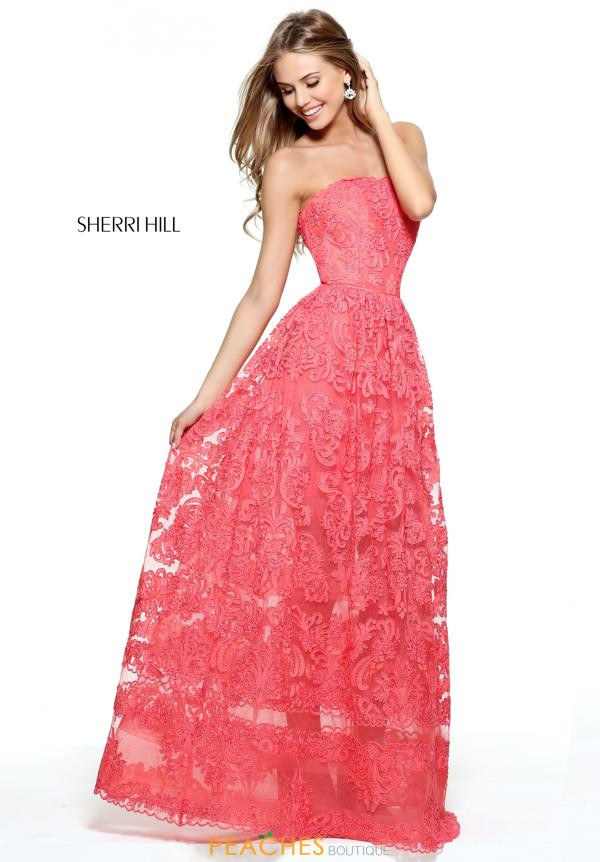 Sherri Hill Lace Long Dress 50878