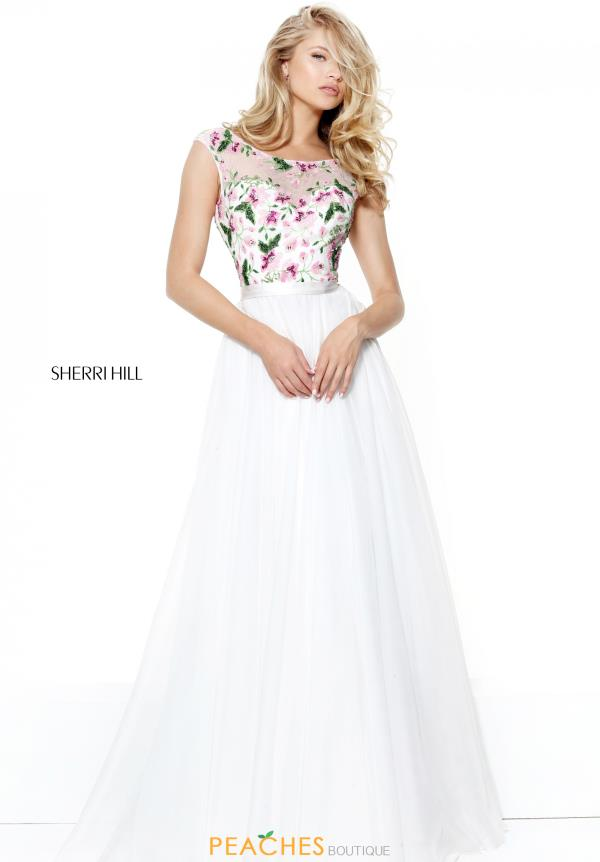 Sherri Hill Long Ivory Dress 50904