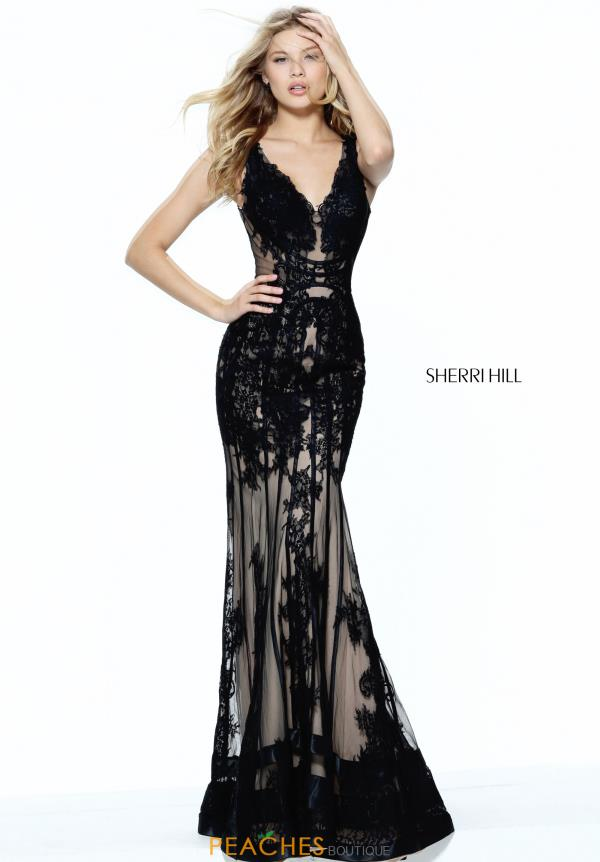 Long Lace Sherri Hill Dress 50906