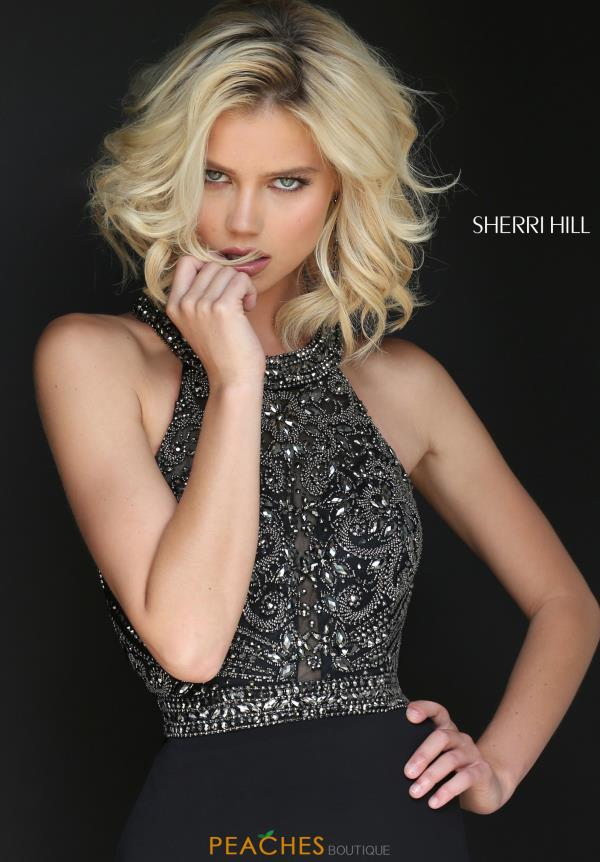 Sherri Hill Beaded Long Dress 50912