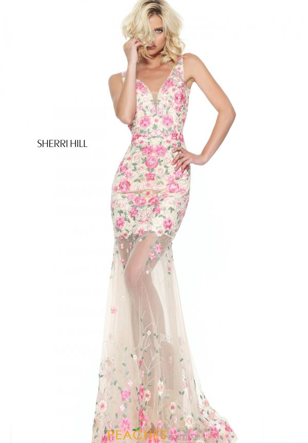Sherri Hill Floral Fitted Dress 50914