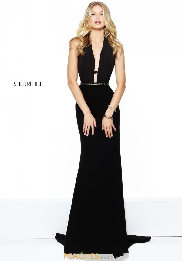 Sherri Hill V- Neckline Fitted Dress 50936