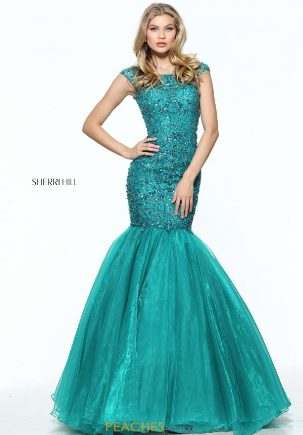 Sherri Hill Beaded Mermaid Dress 50955