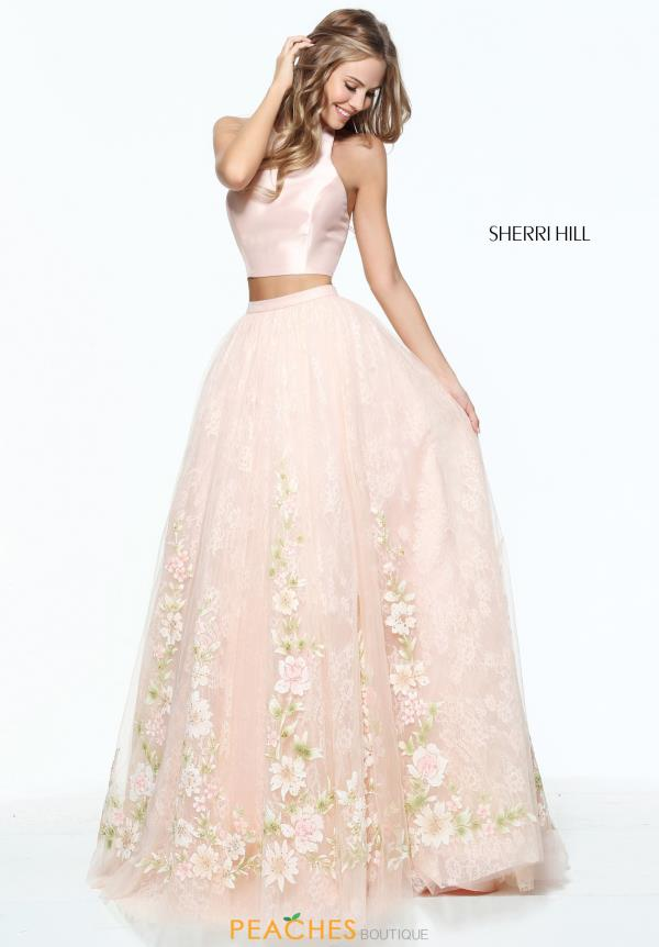 Sherri Hill Two Piece Beaded Dress 50965