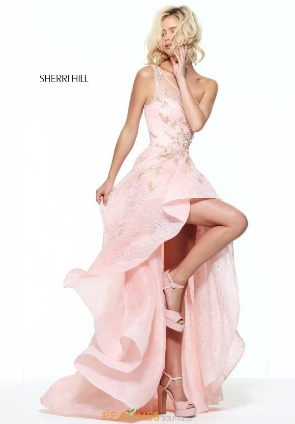 Sherri Hill Beaded High Neckline Dress 50968