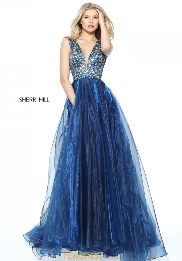 Sherri Hill Beaded A Line Dress 50970