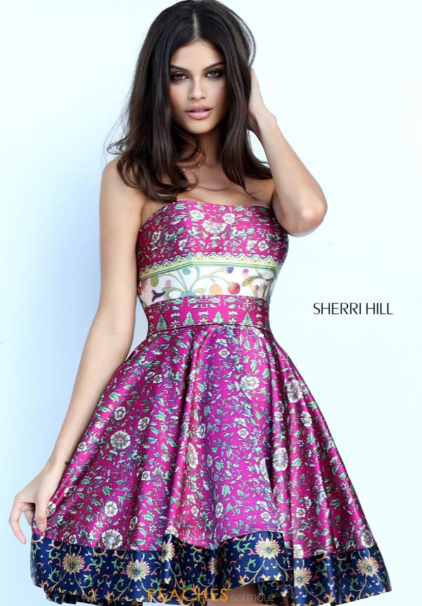 Sherri Hill Strapless Short Dress 50794