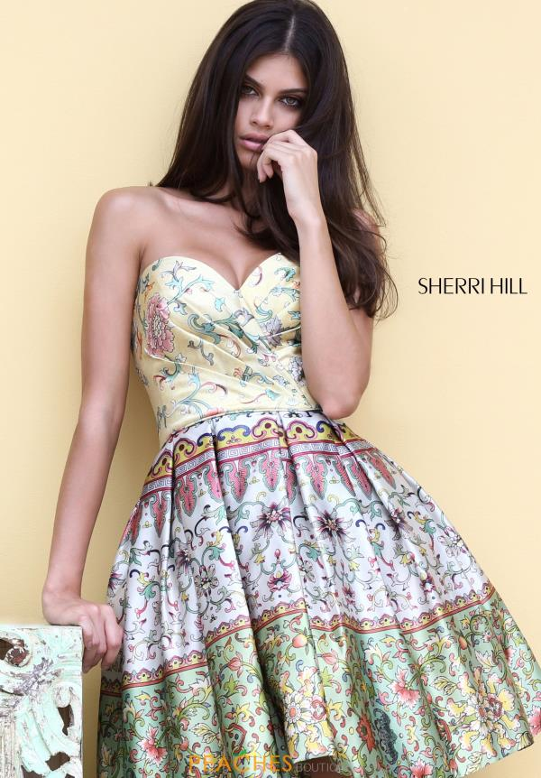 Sherri Hill Short Print Dress 50796