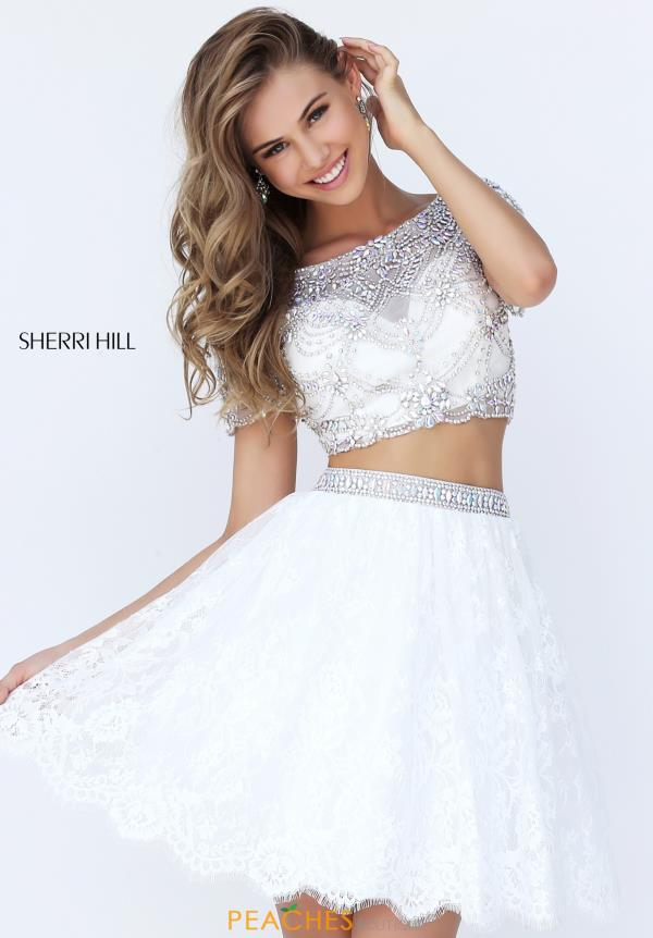 Sherri Hill Short Two Piece Beaded Dress 50818