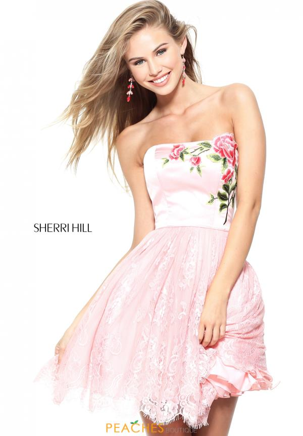 Strapless Sherri Hill Short Dress 50831