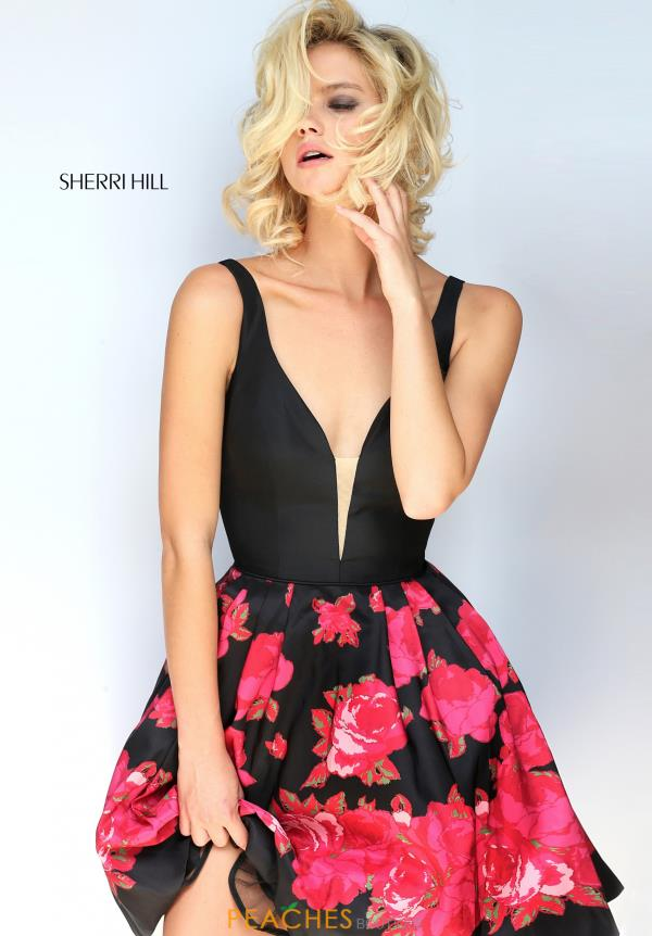 Sherri Hill Short Print Dress 51180