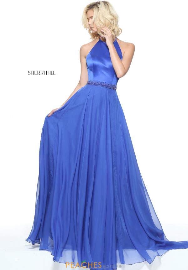 Sherri Hill High Neckline A Line Dress 50971